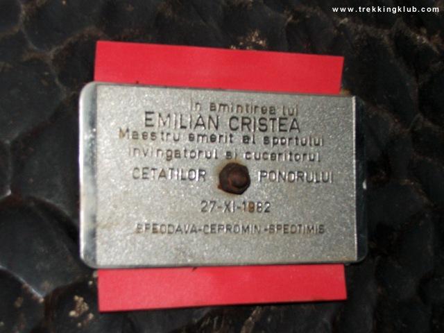 In memoriam Emilian Cristea - Cetatile Ponorului
