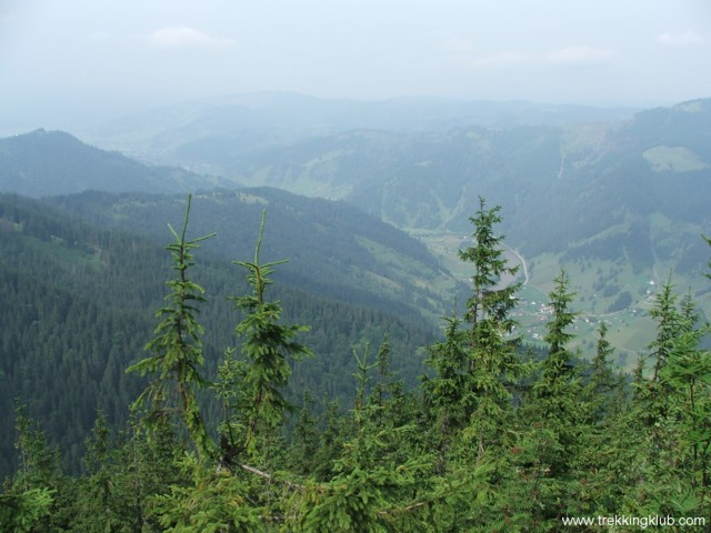 The Bistrita valley, the Giumalau in the background - Pietrosu Bistritei