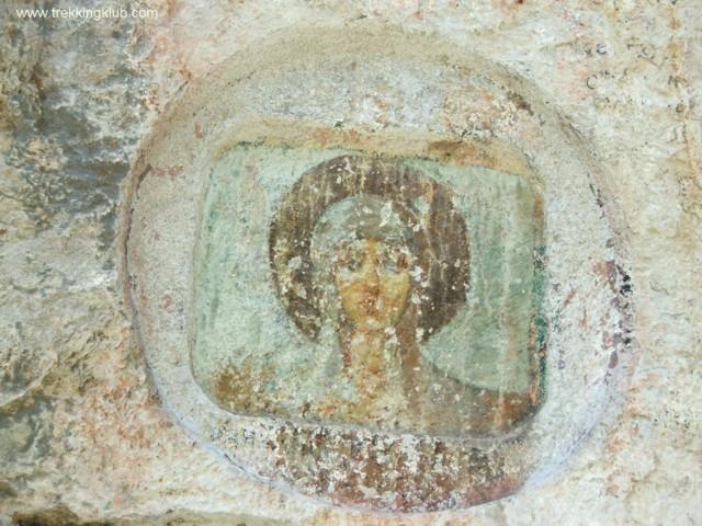 Szent Anna falfestmény - Szent Anna-szikla