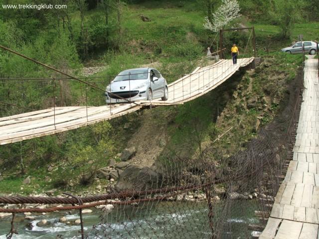 Crossing the bridge - Eagles Lake