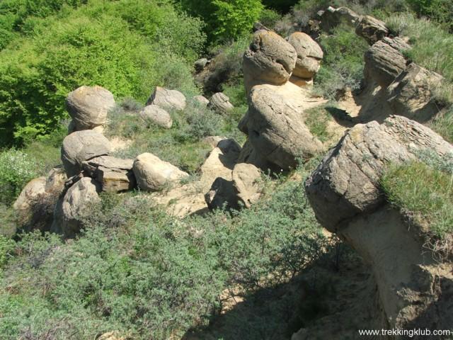 Rock garden - Round rocks from Chiojdu