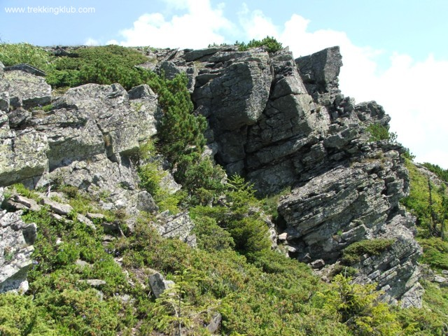 A Tamó-tető alatti sziklafal - Tamó sziklavára