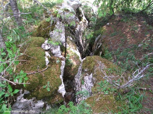 Repedés a sziklában - Bükkhavas