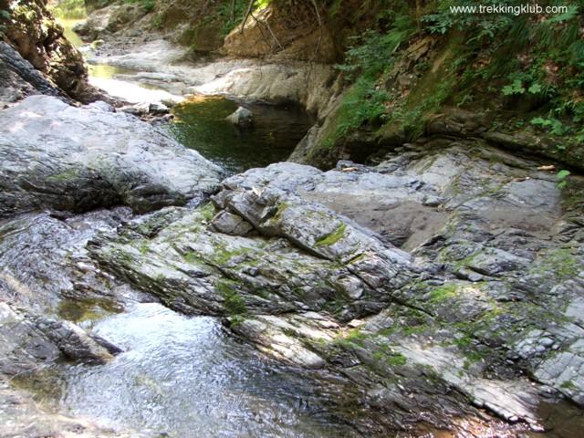 A patak kőágya - Sztán völgye kanyon