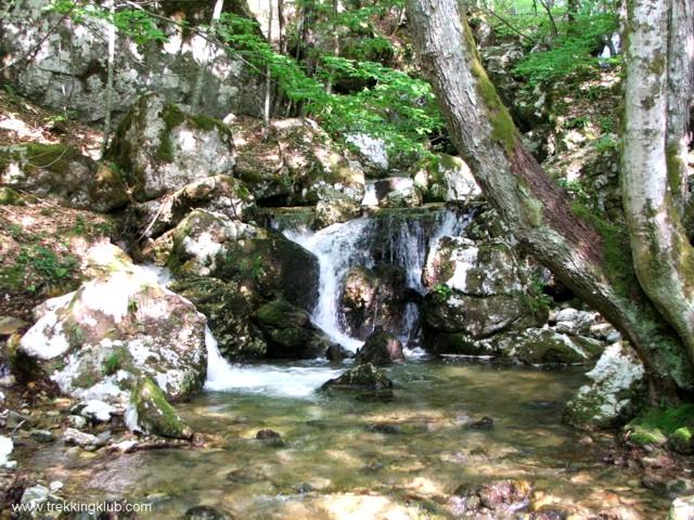 Ramnuta Mare creek - Ramnuta Mare waterfalls