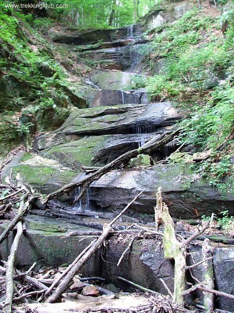 Cascada cu trepte - Cascadele de la Cariera