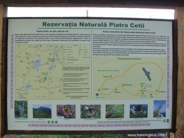 Panou informativ Rezervatia Naturala Piatra Cetii - Piatra Cetii